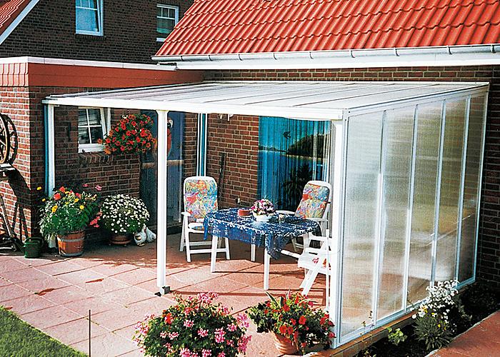 Aluminium modell classic terrassen berdachungen shop - Terrassen seitenwand ...