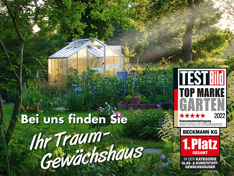 Relativ Gewächshäuser beim Spezialisten online kaufen - Beckmann KG JW09