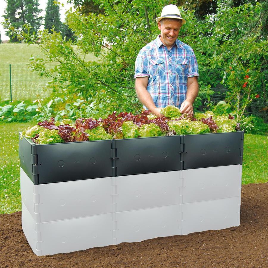 Hochbeet Aufstockung Grundgrosse Hohe 25 Cm Anthrazit Variable