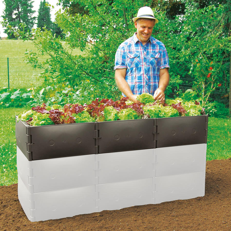 Hochbeet Aufstockung Grundgrosse Hohe 25 Cm Braun Variable