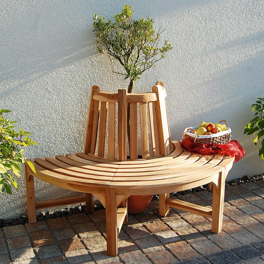 teakholz baumbank gr e 1 halber kreis baumb nke beckmann kg ihr spezialist f r. Black Bedroom Furniture Sets. Home Design Ideas