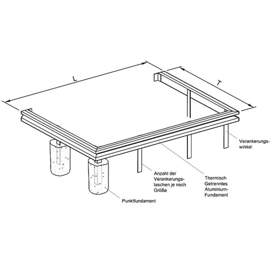 aluminiumfundament f r wintergarten apla11 fundament modell apla zubeh r modell apla. Black Bedroom Furniture Sets. Home Design Ideas