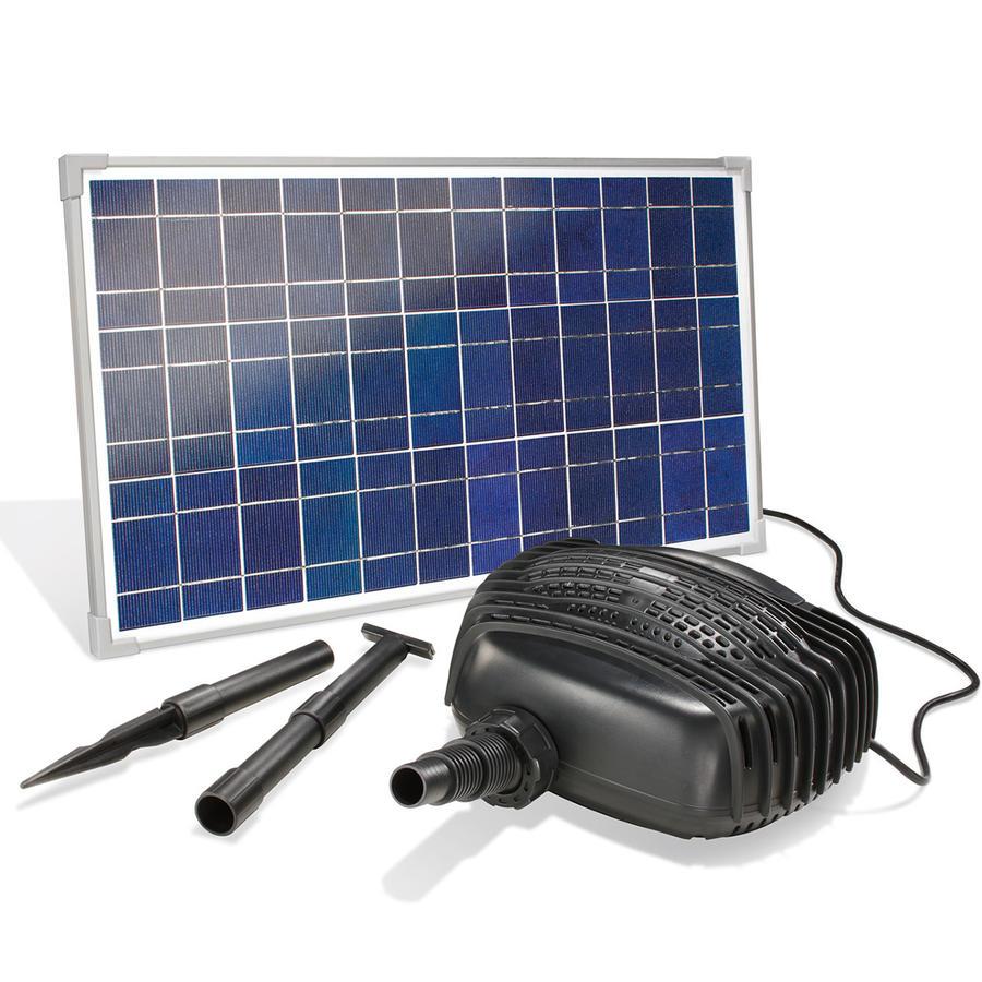 solar teichpumpenset bachlaufpumpensystem 25 w 2480 l std. Black Bedroom Furniture Sets. Home Design Ideas