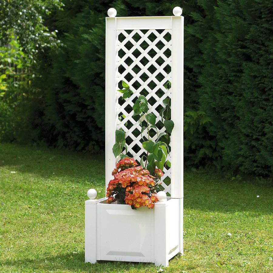 pflanzkasten mit spalier gr e 1 wei pflanzk sten mit. Black Bedroom Furniture Sets. Home Design Ideas