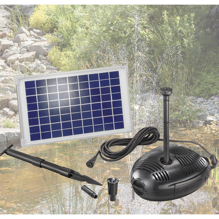 solar teichpumpenset 25 w 1300 l std solar pumpen. Black Bedroom Furniture Sets. Home Design Ideas