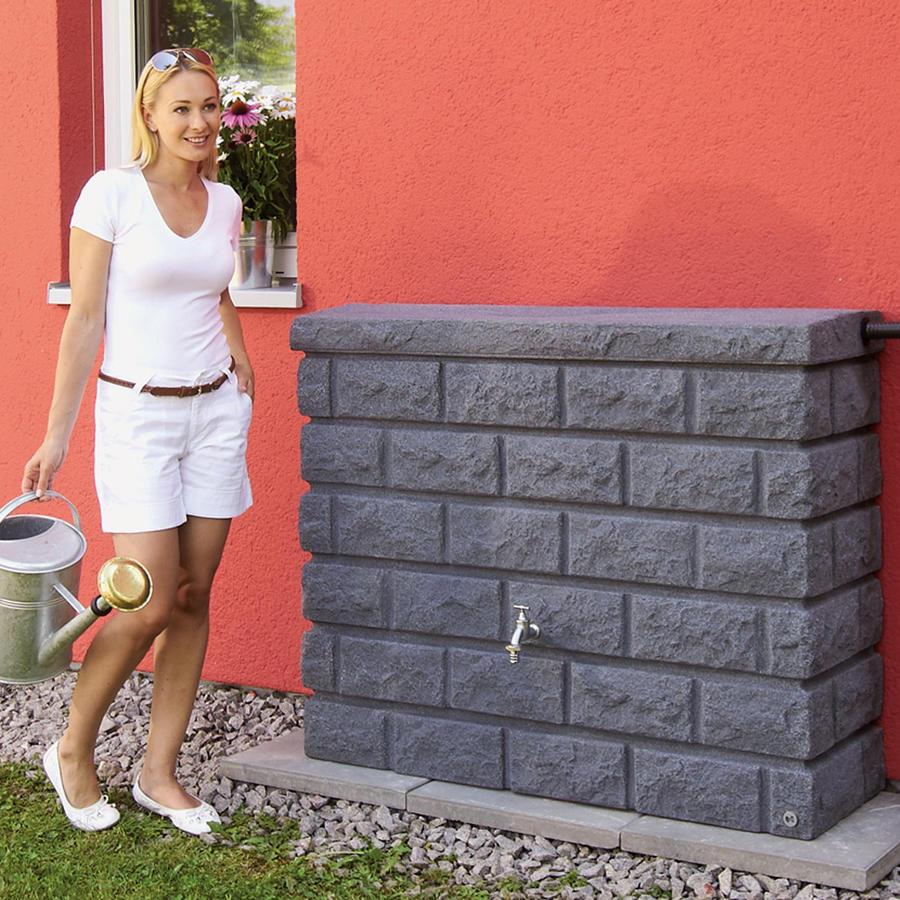 wandtank rocky 400 l - dekorative regenspeicher regenwasser sammeln