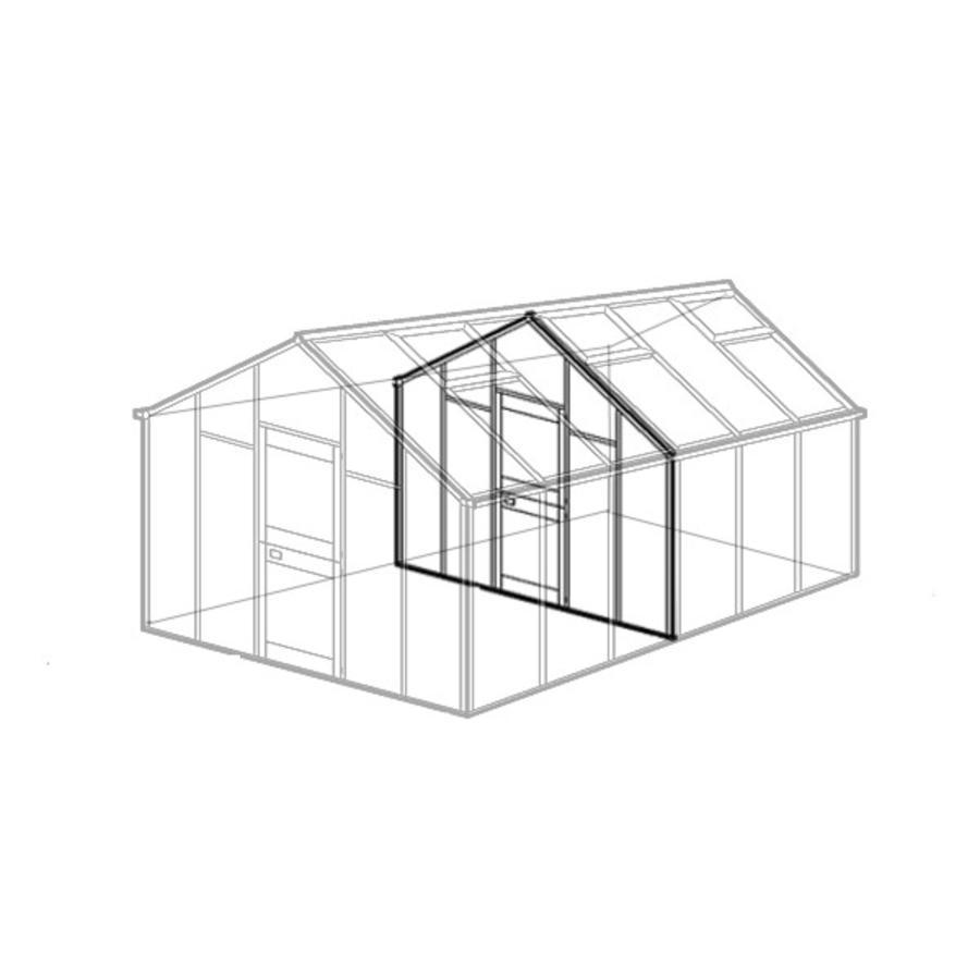zwischenwand f r gew chshaus modell b beckmann kg. Black Bedroom Furniture Sets. Home Design Ideas