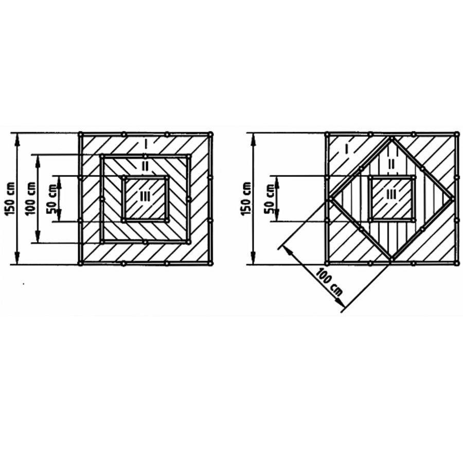 Hochbeet Pyramide Grun 150 X 150 X 75 Cm Hochbeete Pyramide