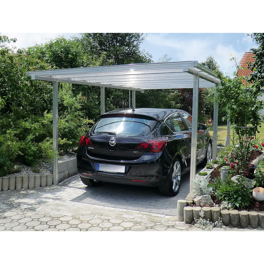 aluminium carport carports beckmann kg ihr spezialist f r gew chshaus und gartenartikel. Black Bedroom Furniture Sets. Home Design Ideas