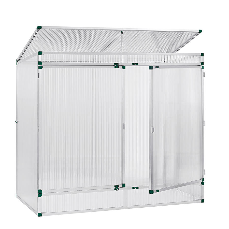 pflanzenhaus modell 2 201 x 107 x 183 cm mit 16 mm stegdreifachplatten pflanzenhaus. Black Bedroom Furniture Sets. Home Design Ideas