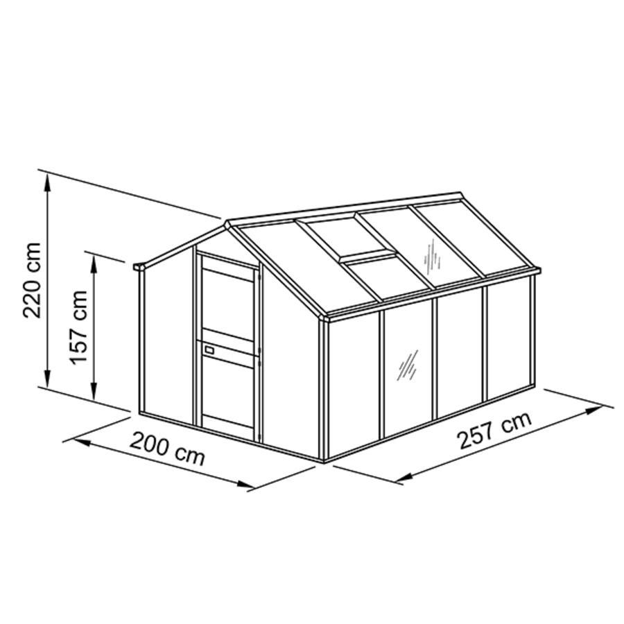 gew chshaus typ allg u modell u5 modell u5 200 x 257 cm modell u breite 200 cm typ. Black Bedroom Furniture Sets. Home Design Ideas