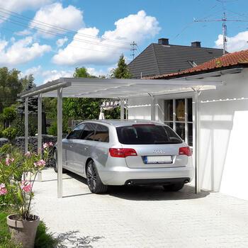 aluminium carport carports beckmann kg ihr spezialist f r gew chshaus und gartenartikel. Black Bedroom Furniture Sets. Home Design Ideas