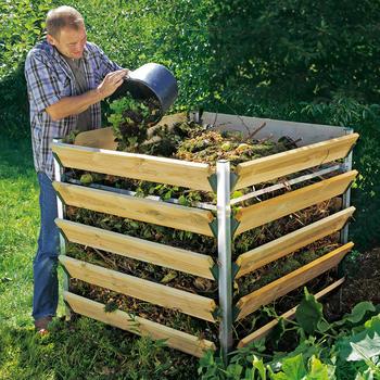 beckmann kompostsilo 1550 liter offene komposter. Black Bedroom Furniture Sets. Home Design Ideas
