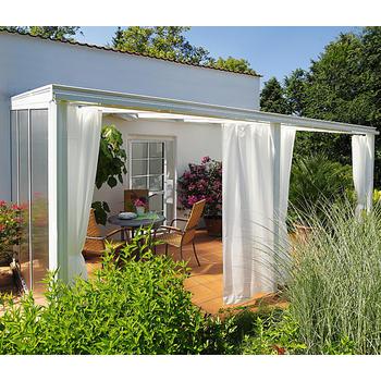 Vorhang set gr e 2 f r terrassen berdachung exklusiv for Beckmann aluminium carport