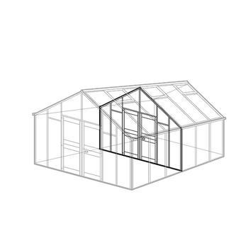 zwischenwand f r gew chshaus modell c typ allg u modell c zwischenwand gew chshaus zubeh r. Black Bedroom Furniture Sets. Home Design Ideas