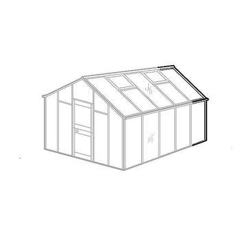 Zubehör Gewächshaus - Gewächshaus-Verlängerung für Typ Allgäu Modell B
