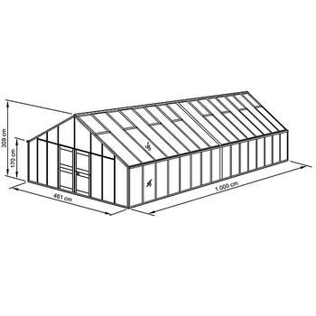 Aluminiumgewächshaus - Gewächshaus Typ Allgäu Modell D46