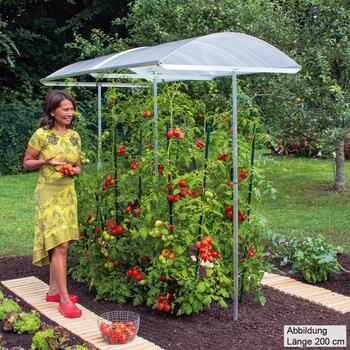 Tomatendach - Schutzdach für Pflanzen Modell 1 Breite 112 cm
