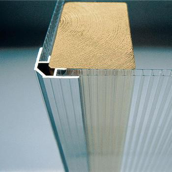 Stegdoppelplatten - Aluminium-Eckprofil  2000 mm