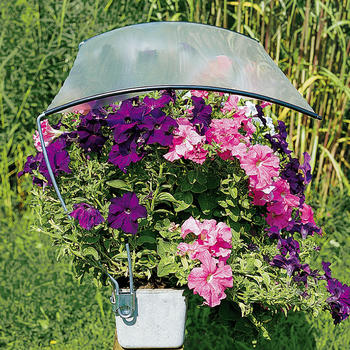 Schutzdach - Regenschutzfür Balkonkasten bis 120 cm mit Folie