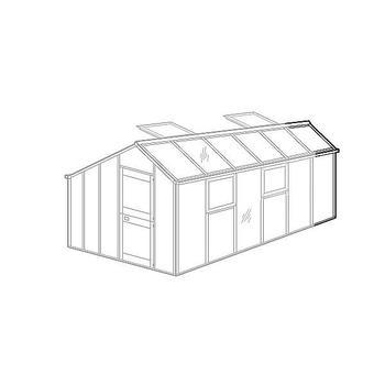 Gewächshaus Zubehör - Gewächshaus-Verlängerung für Typ Allgäu Modell S