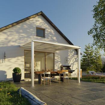 Terrassendach Bausatz - Terrassen-Überdachung Exklusiv Größe 1 Tiefe 271 cm Länge 307 cm