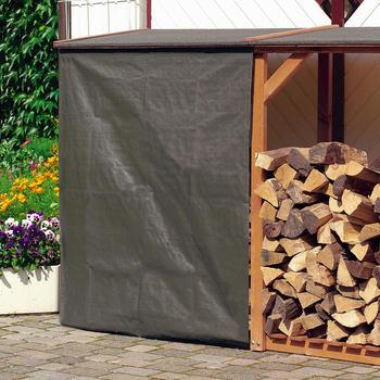 Holzlager - Regenschutz für Kaminholz-Regal VZC und VZD