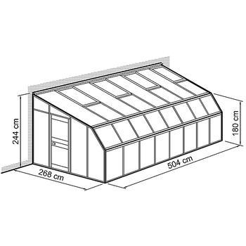 Anlehn Gewächshaus - Anlehnhaus Typ Allgäu Modell W2