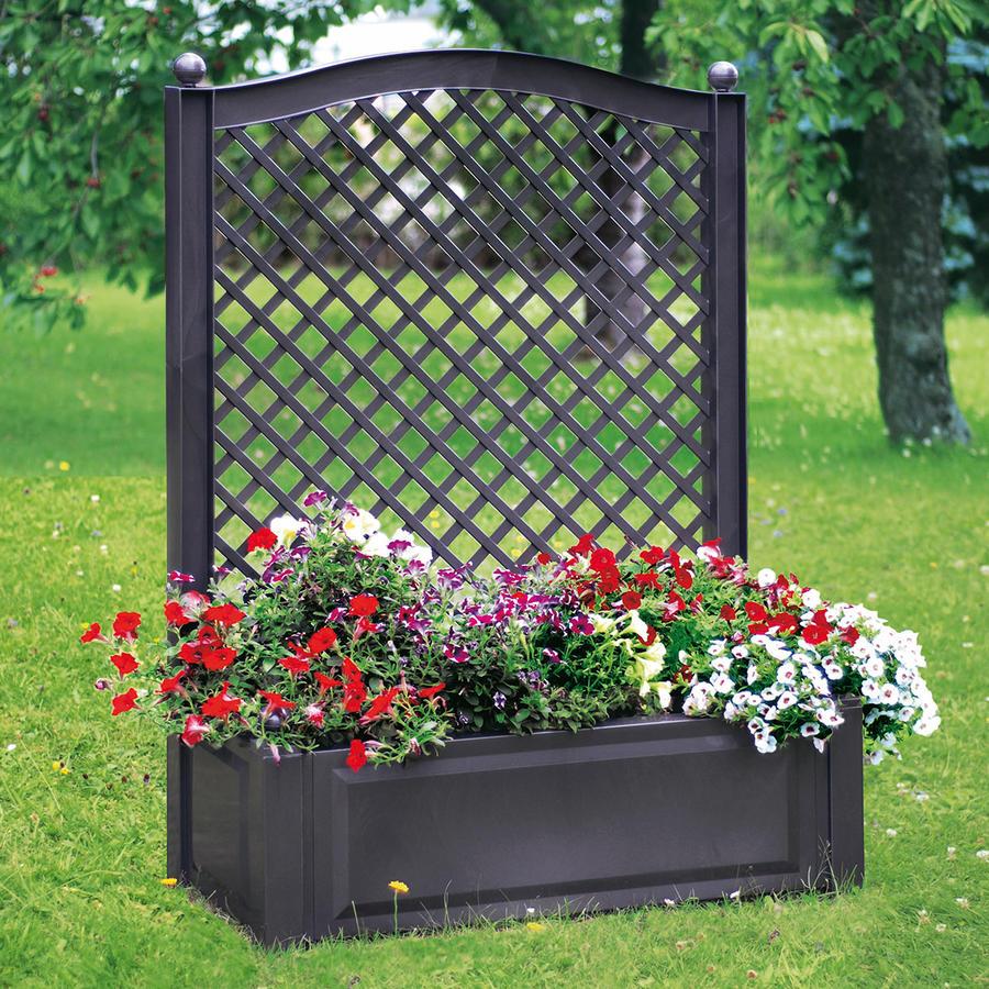 pflanzkasten mit spalier gr e 2 anthrazit pflanzk sten mit spalier pflanzgef e und. Black Bedroom Furniture Sets. Home Design Ideas
